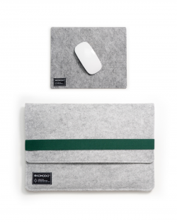 Set EKOLAPTOP - Dark green