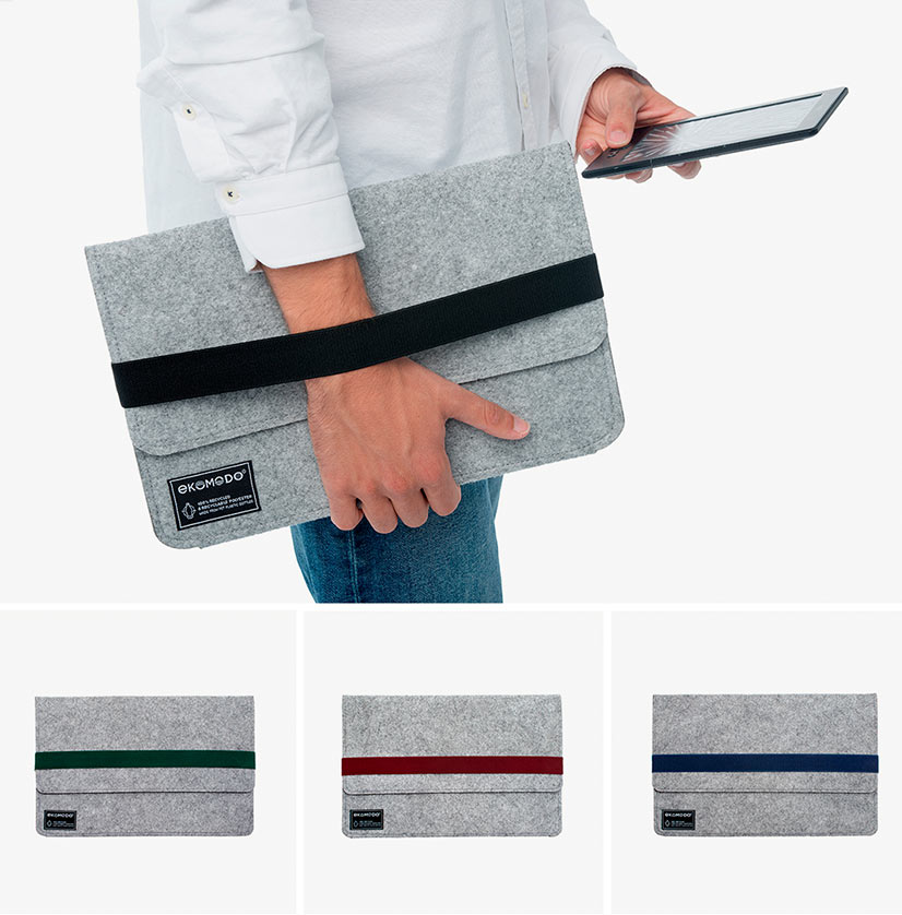 nueva funda Hazi para tablet y ipad disponibles en color negro verde granate y azul